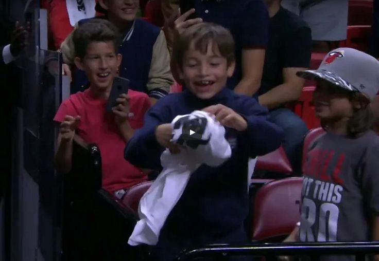 WATCH: Hassan Whiteside Thrills Kid With a T-Shirt