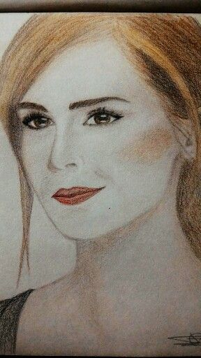 Some girl...  (Color pencils)