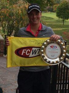 FCWT Junior Golf tournament at Notre Dame 2014 Katie Kaspar Champ