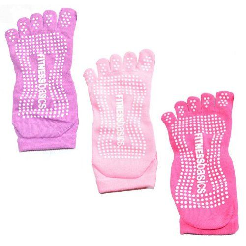 3 Pair Cotton Slip-free Yoga Toe Socks for Women « Clothing Impulse
