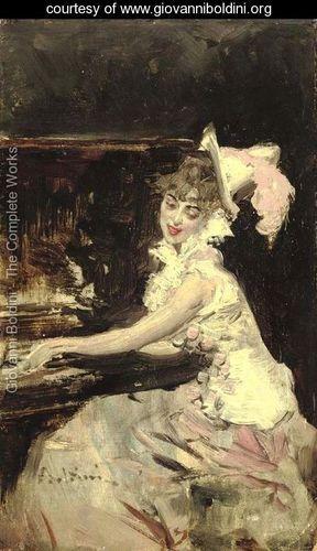 Signora al Pianoforte - Giovanni Boldini - www.giovanniboldini.org