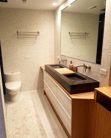 godmorgon de contreplaqu de bambou pour un meuble de salle de bain moderne