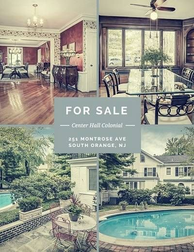 A large, lavishly landscaped backyard with beautiful gunite pool makes for the perfect place to entertain at #251MontroseAve in South Orange, NJ. #southorangerealestate #BHHSNJ