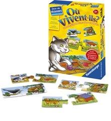 Où vivent-ils?   Apprendre les couleurs, les formes, les animaux   Jeux éducatifs   Produits   FR   ravensburger.com