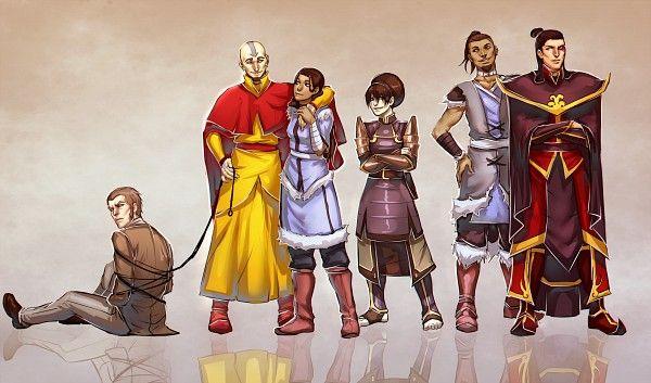 Avatar: The Last Airbender - Yakone, Aang, Katara, Toph ...
