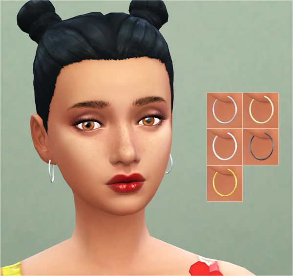 Maxis Match Cc For The Sims 4 Veranka S4cc Smaller Hoop Earrings New Mesh Accessories Pinterest And Blog