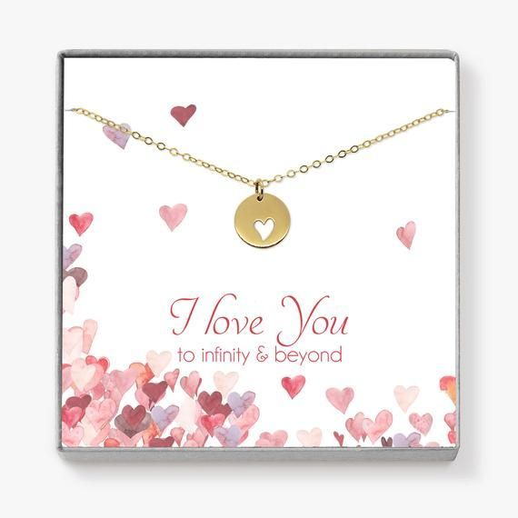 Valentines day gift for her Gifts for her Infinity Necklace Love necklace Gift for wife Valentines gift for girlfriend Heart necklace