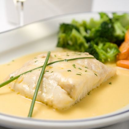 Broiled White Fish in Lea & Perrins ® White Worcestershire Cream Sauce