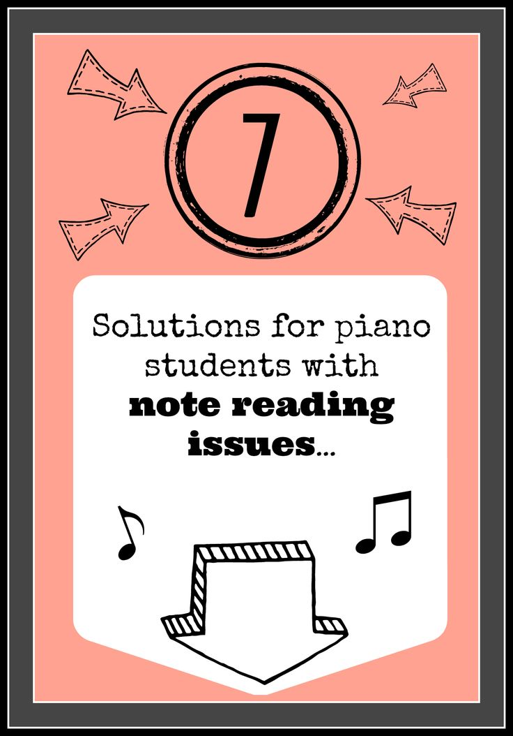 7 strategies for helping piano kids who have ntrouble with note reading. #piano #pianoteachingtips
