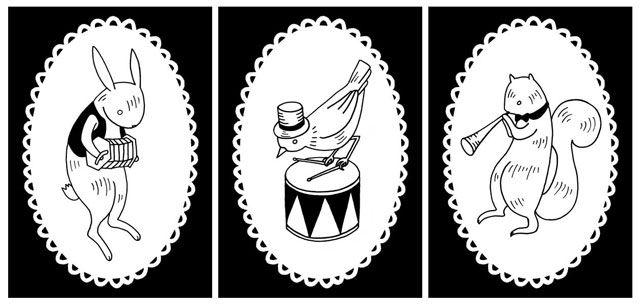 music-animalsAlex Beech, Nora Aoyagi, Music Animal, Drums Birds, Beech Illustration, Whimsical Art