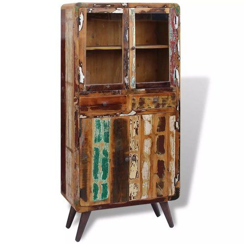 Macias Solid Reclaimed Wood Standard Display Cabinet Bloomsbury Market
