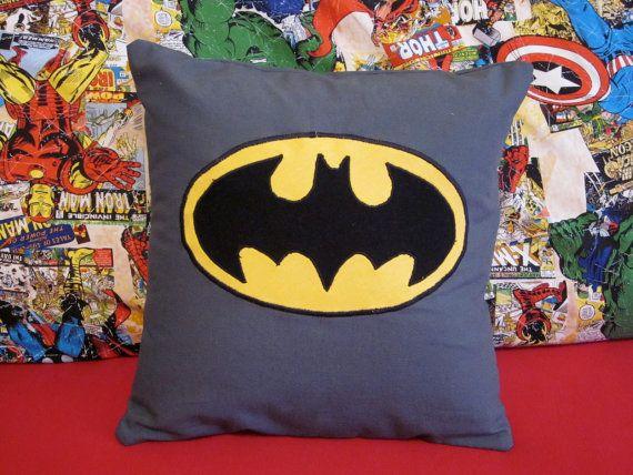 Batman Pillow by CreativeKryptonite on Etsy, $15.00