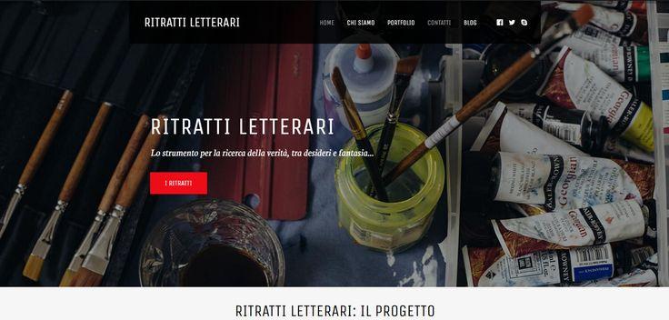 Web design for Ritratti Letterari