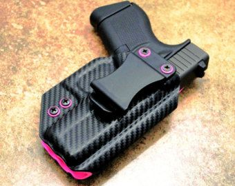 SCCY CPX-2 9mm | 2 Tone IWB Kydex Holster | Black Carbon Fiber / Hot Pink | Appendix Carry | Straight Draw | Concealed Carry