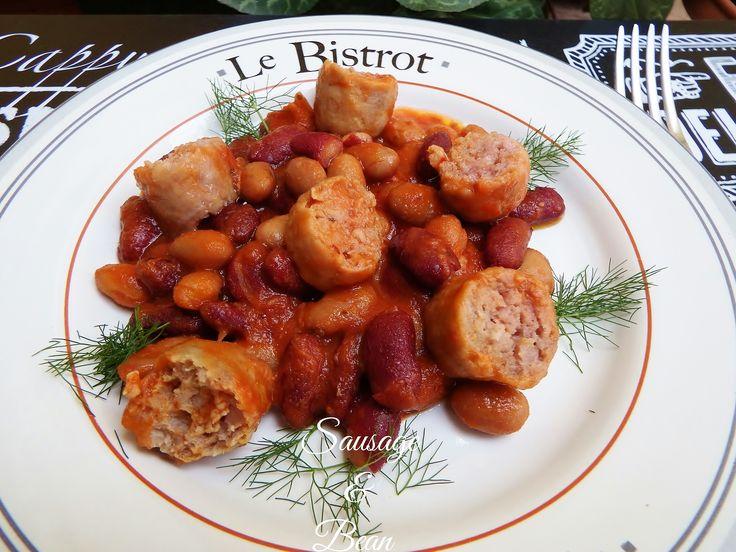 Salsiccia e fagioli - sausage and beans - ricetta tex mex