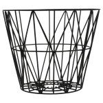 Ferm Living Wire Basket in Black- Medium | Urban Couture - Designer Homewares & Furniture Online