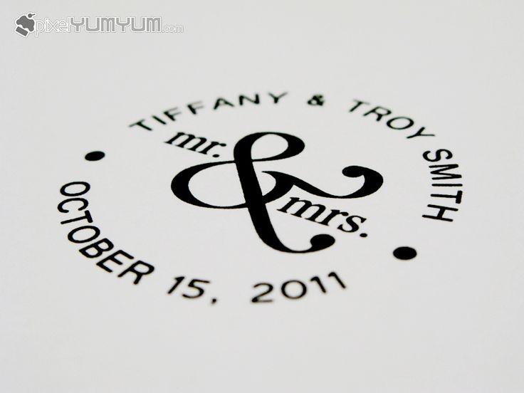 Stamps, monogram ideas. http://www.pixelyumyum.com/wordpress/tag/wedding-monograms/