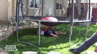 trampoline water balloon gif - Google Search
