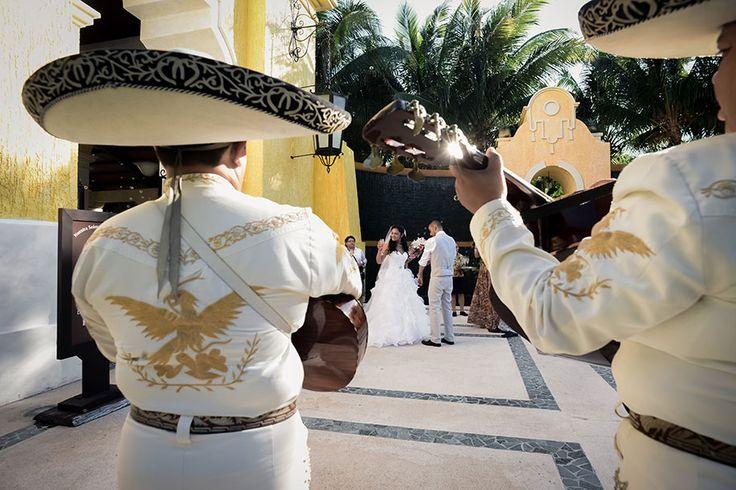 Mariachi Time! Riviera Maya & Cancun Wedding, by Sweet Caribbean Photo