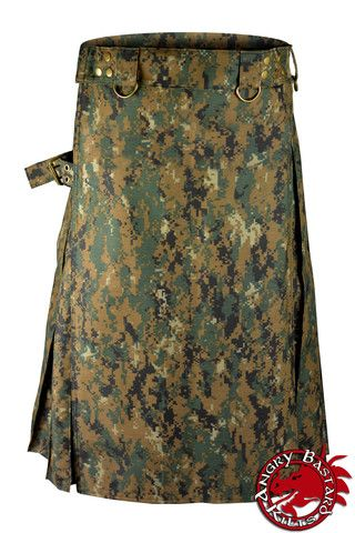 Woodland Digital Camo Tactical Kilt, heavyweight, tactical kilts, utility kilt, tactical military, Army, special forces, canvas, zombies, zombie, carpenter, construction trades, construction, outfitter, outdoorsman, tactical, heavy duty, work, utility, hiking, camping, sports, highland games, scottish games, ren fair
