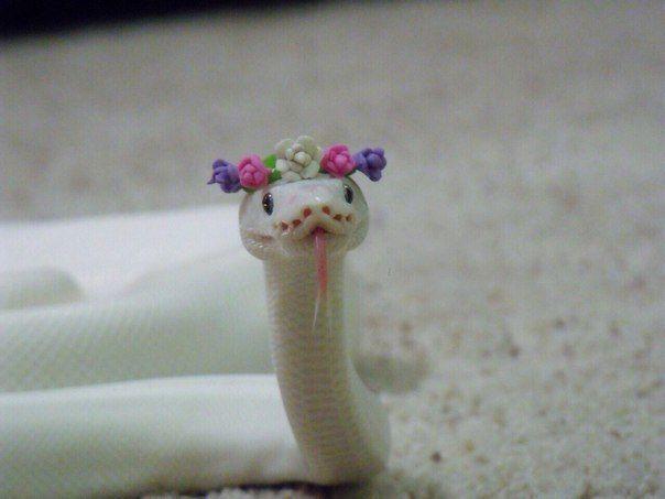 картинка змея с цветком на голове заказ