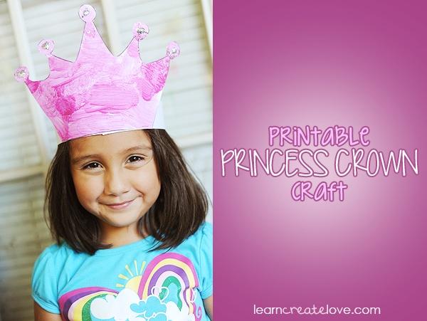 { Princess Crown Craft with Printable }