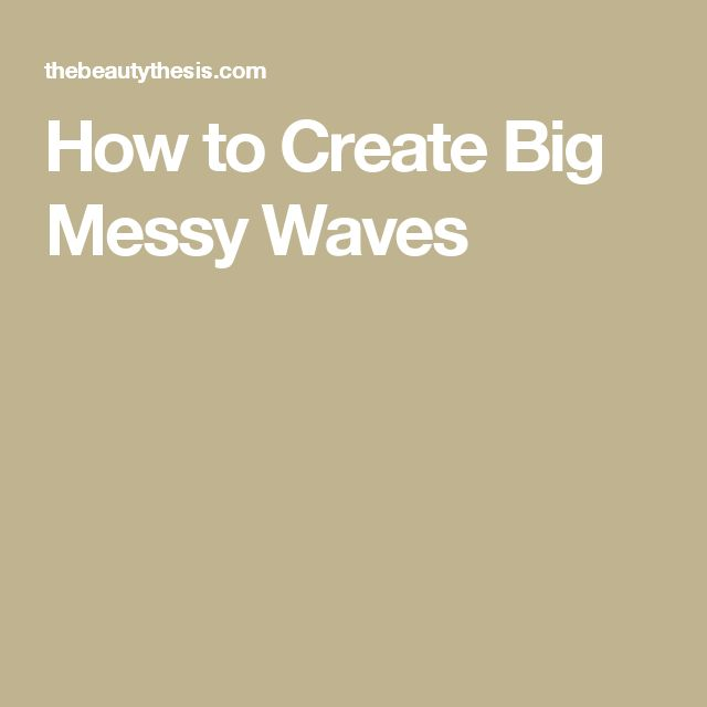 How to Create Big Messy Waves
