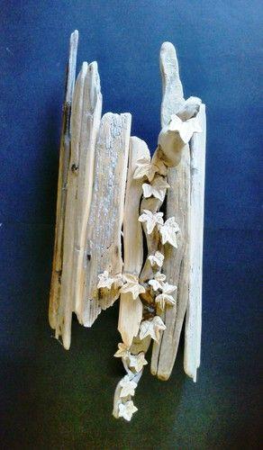 Applique legno foglie acero...pezzi unici (dimensioni variabili secondo il legno reperito sul litorale veneziano) da € 90