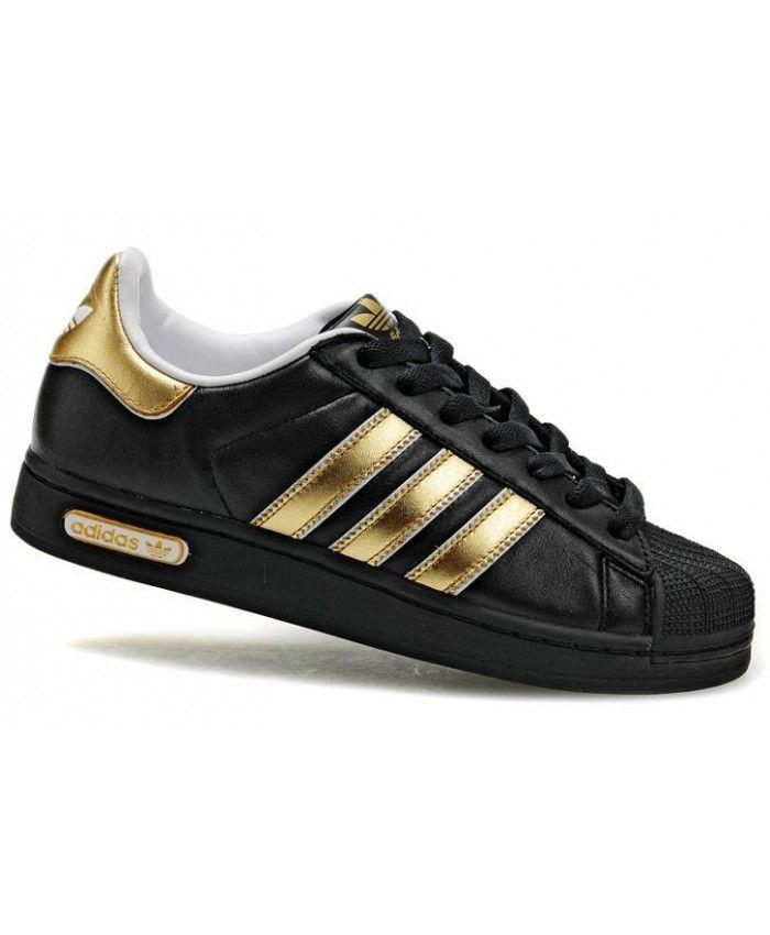 Adidas Superstar II Gold Black Shoes | Adidas superstar gold ...