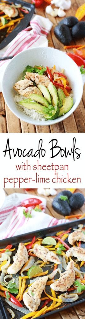 Baked Chicken and Avocado Bowls