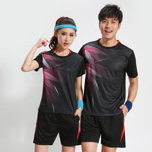 Badminton clothes Women/Men ,Quick dry table tennis clothes, sports Tennis suit , badminton wear sets 3070(China)