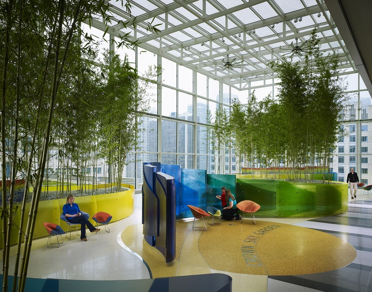 Exploring the crown sky garden at lurie children 39 s http for Interactive landscape design