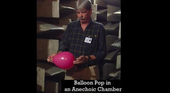 The Difference Between Popping A Balloon In A Reverberation Room And An Anechoic Chamber