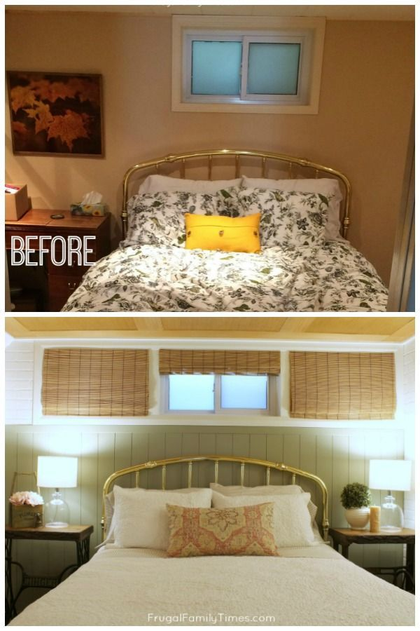 How To Make A Small High Basement Window Look Bigger With Trim