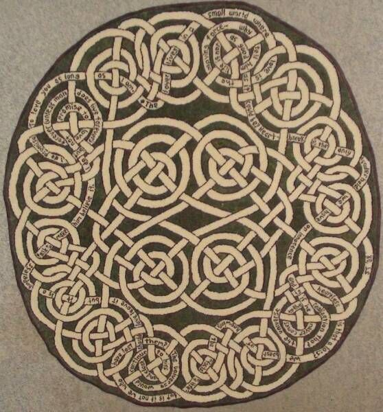 Celtic knot style rug. Irish. | CARPETS, RUGS, QUILTS AND ...