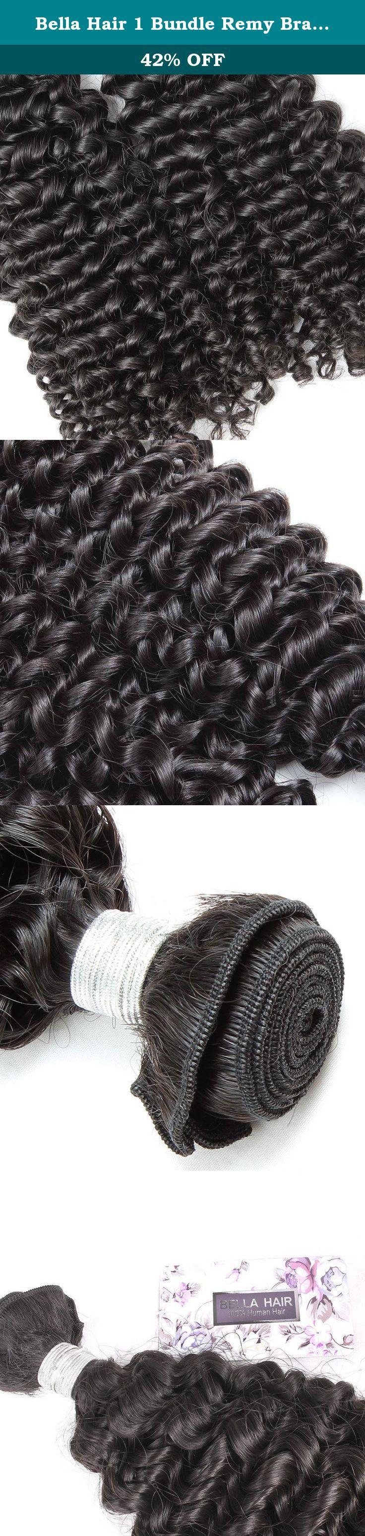 Bella Hair 1 Bundle Remy Brazilian Virgin Hair Curly Wave Weave Human Hair Extensions Natural Black Color (16inch). Brazilian Curly Wave Human Hair 1) Material: 100% Brazilian virgin human hair , unprocessed natural hair with no chemical condition, No Acid! No Dye! 100% Real Human Hair. 2) Quality: No shedding, No Tangle, Long Lifetime, High Quality Hair 3) Length: 16inch, 100% Ture To The Length 4) Color: Natural Black Color (Can Be Dyed) 5) Hair Type :Hair Extensions 6) Weight: 95-100g…