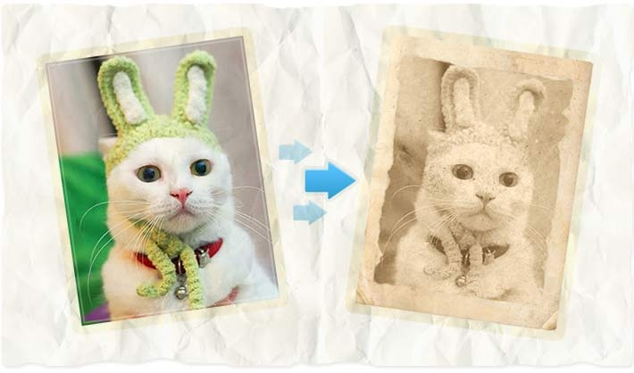 Old photo effect with fun photo editing software!