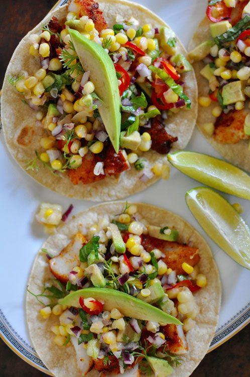 Fish Tacos with Sweet Corn Salsa Recipe   ¡HOLA! JALAPEÑO