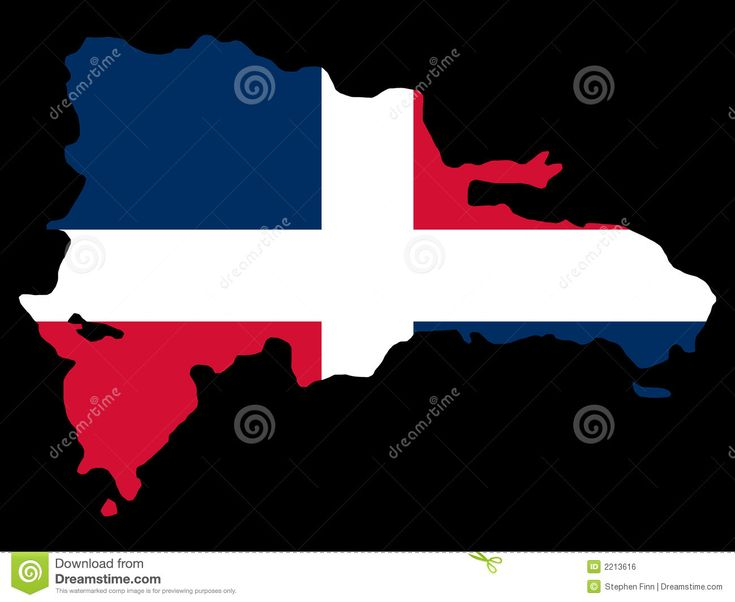 Dominican Republic Flag Symbol | Map of Dominican republic and Dominican flag illustration