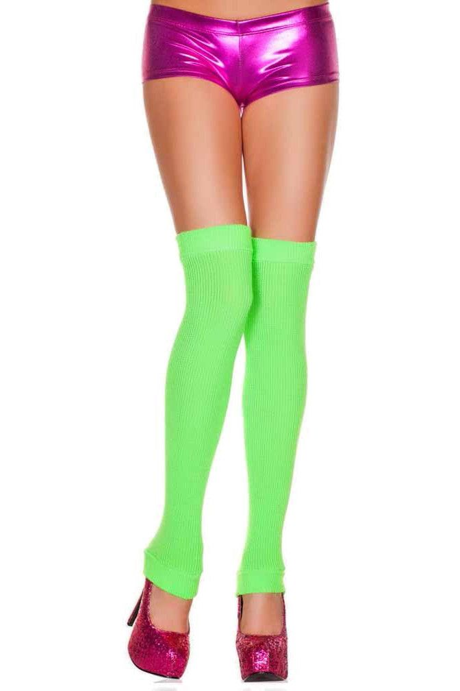 Leg warmers are back and can be found on fashion runways everywhere. These are made from an ultra soft acrylic material. Both the top and the bottom are slightly elastic to ensure that they do not fal