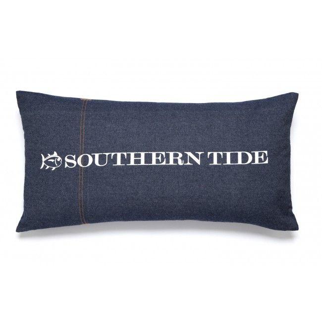 "Southern Tide Indigo 12""W x 24""L Denim ST Print Decorative"