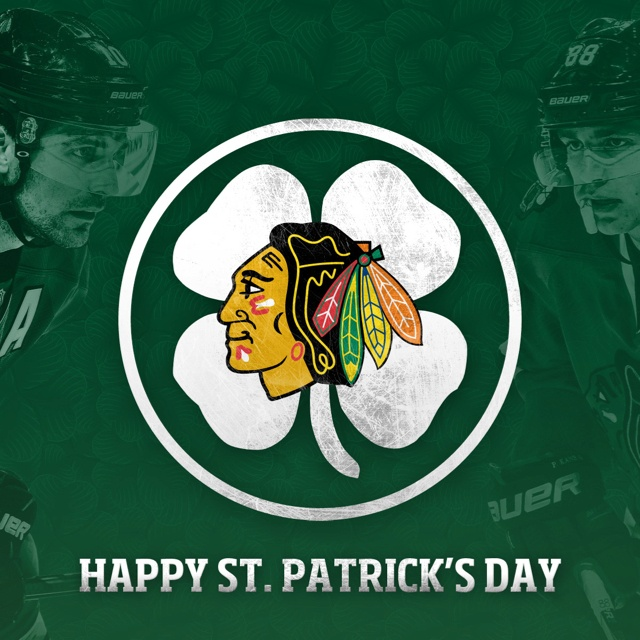 #Blackhawks Happy St. Patrick's Day