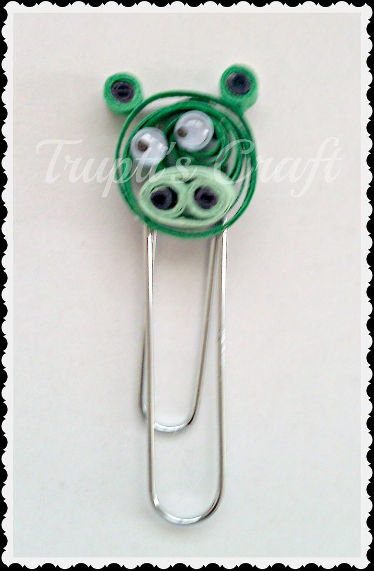 Trupti's Craft: Quilled Angry Bird Bookmarks