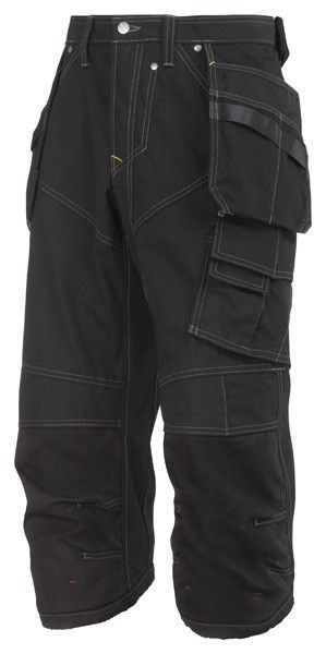 I don't know why they're called Pirate trousers...they just ARRRRRRRR !  Snickers 3923 Ripstop Pirate Holster Pocket Work Trousers - Black/Black