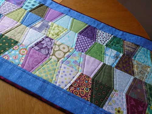 Quilted table runner for summer.