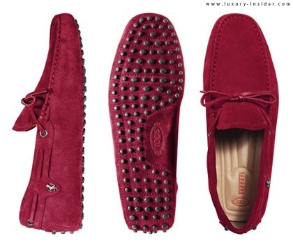 Gommino shoes at a crushed rose red color