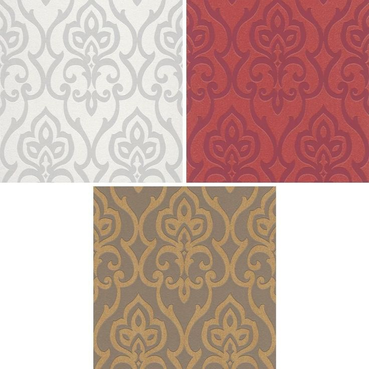 NEW RASCH BARBARA BECKER DAMASK MOTIF PATTERNED TEXTURED GLITTER WALLPAPER ROLL