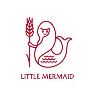 リトルマーメイドのロゴ:シンプルなキャラクター   ロゴストック