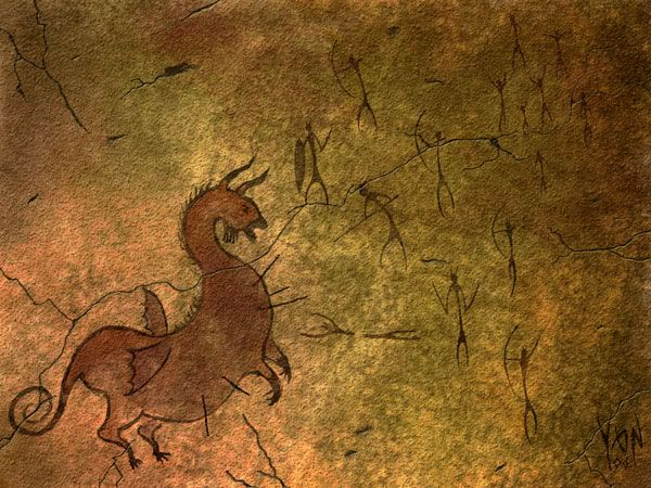 caves paintings with dragons - Google Search
