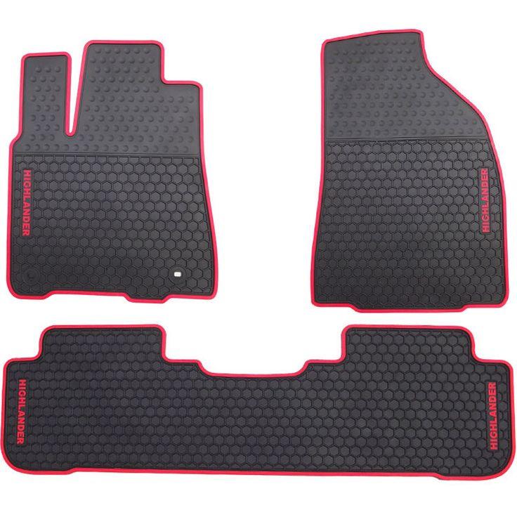 waterproof anti skip no odor green latex durable carpets special rubber car floor mats for Highlander Carola Camry #Affiliate